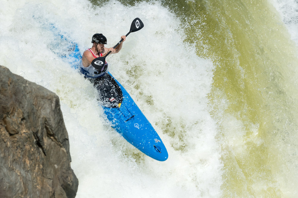 Jake Trotter Kayaking The Spout at Great Falls