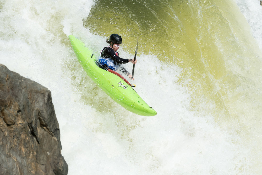 Rhys Jensen-Jones Kayaking The Spout at Great Falls