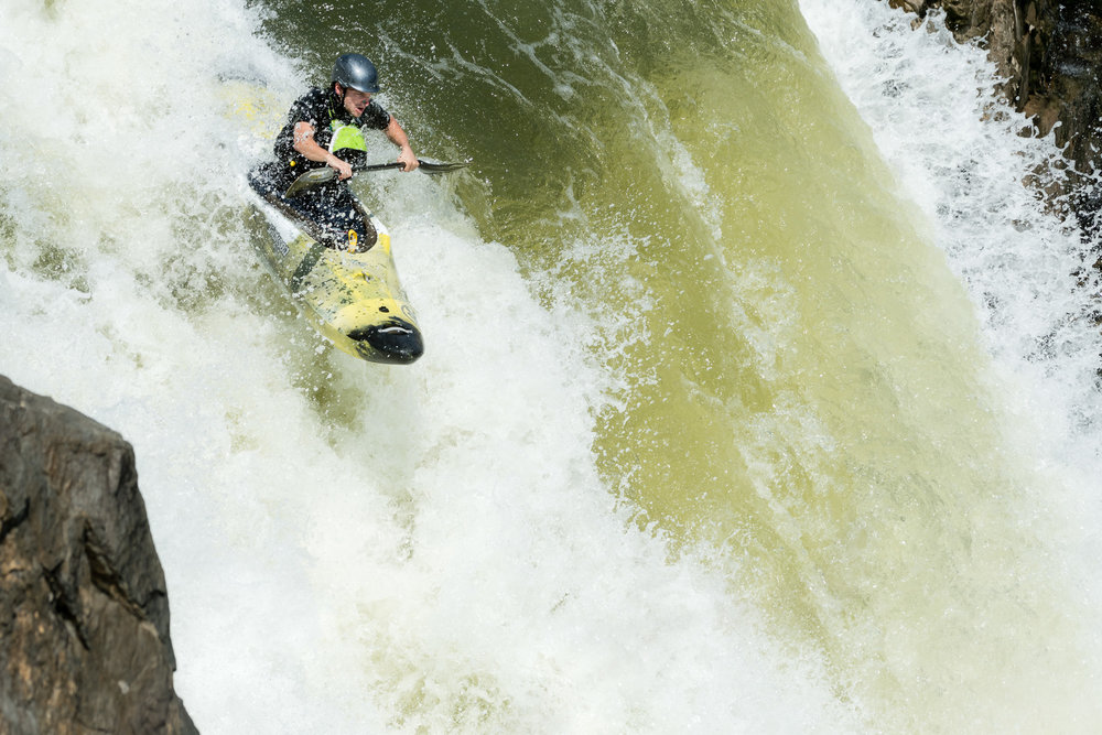 Collin Swan Kayaking The Spout at Great Falls