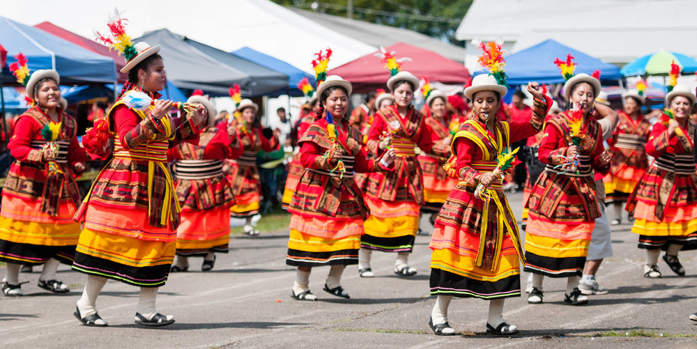 Fundacion Socio Cultural Diablada Boliviana performing a Wititi dance.