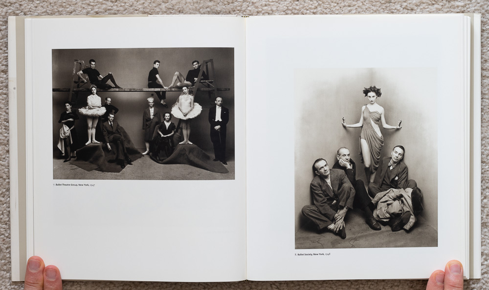 Irvin Penn: Platinum Prints. P late 7: Ballet Theatre Group, New York, 1947. Plate 8: Ballet Society, New York, 1948