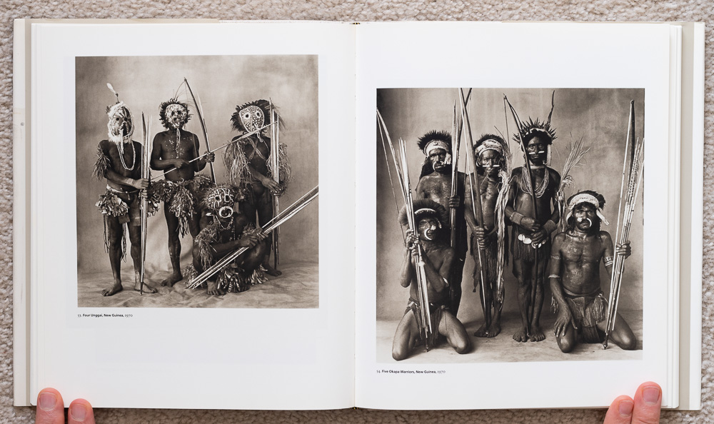 Irvin Penn: Platinum Prints. P late 53: Four Unggai, New Guinea, 1970. Plate 54: Five Okapa Warriors, New Guinea, 1970