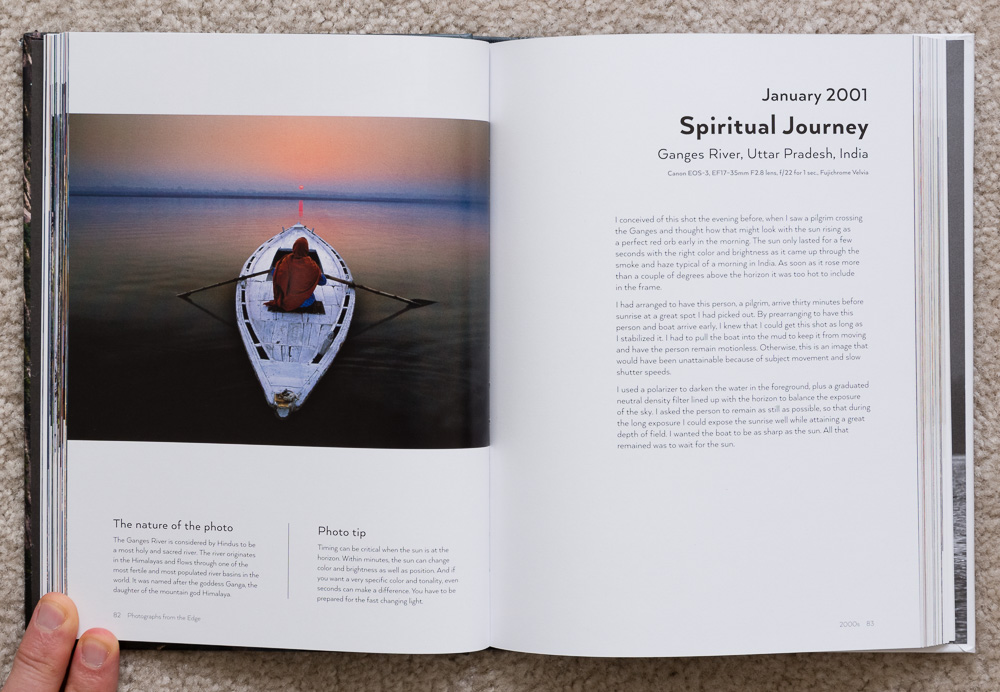 Photographs from the Edge  by Art Wolfe, pages 82-83, January 2001, Spiritual Journey, Ganges River, Uttar Pradesh, India.