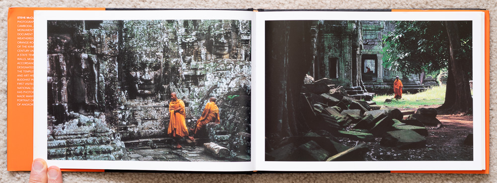 Pages 18-19. Buddhist monks among the temples.