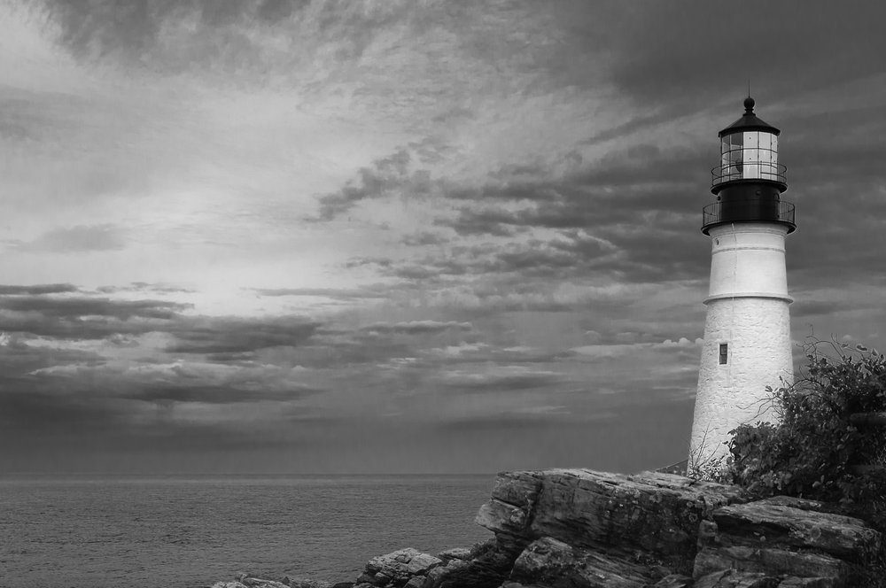 Keeping Watch - Portland Head Light watching over Casco Bay