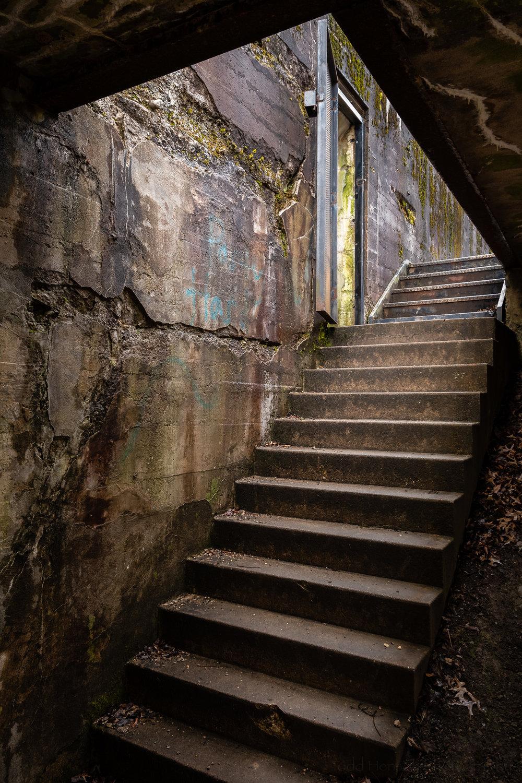 Stepping From the Dark , Battery Mount Vernon, Fort Hunt Park, Virginia.