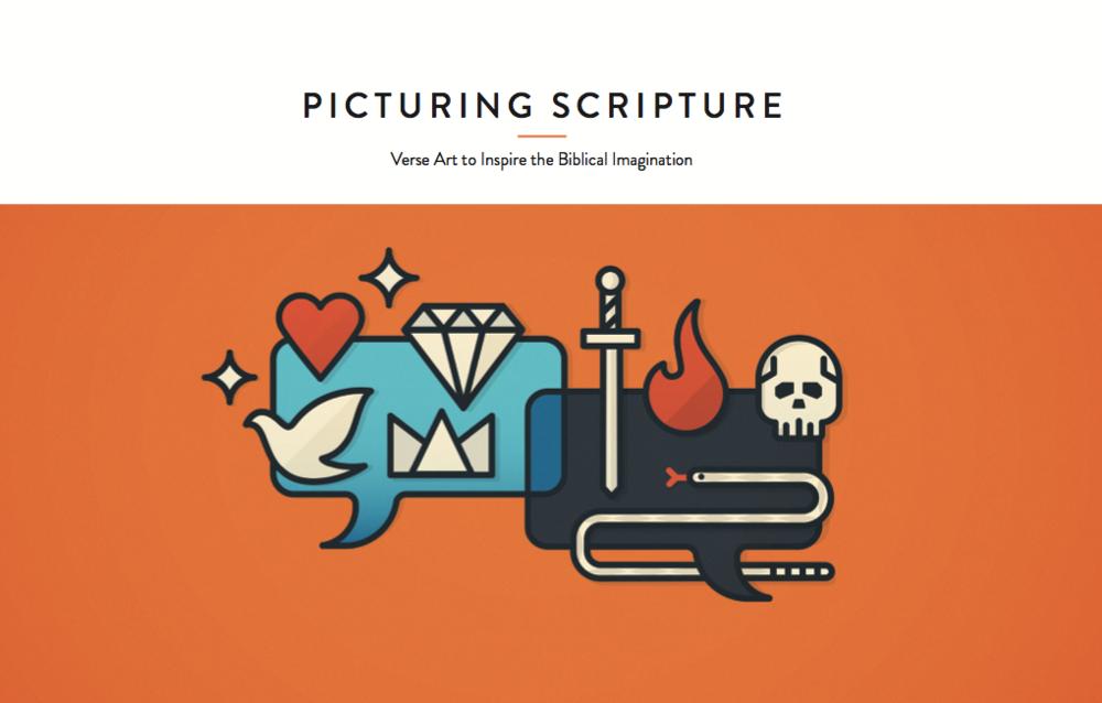 """Cover design for """"Picturing Scripture."""" Illustration by Josh Warren (http://joshwarrendesign.com)"""