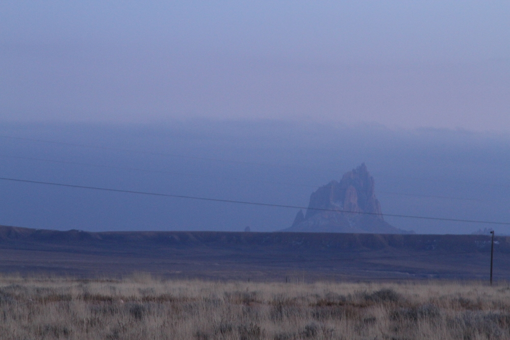 Shiprock from a distance