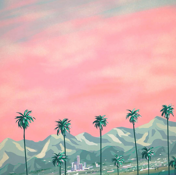 Japanese artist Yoko Honda creates imaginary versions of California's past. More cool work at @yokopium on Instagram