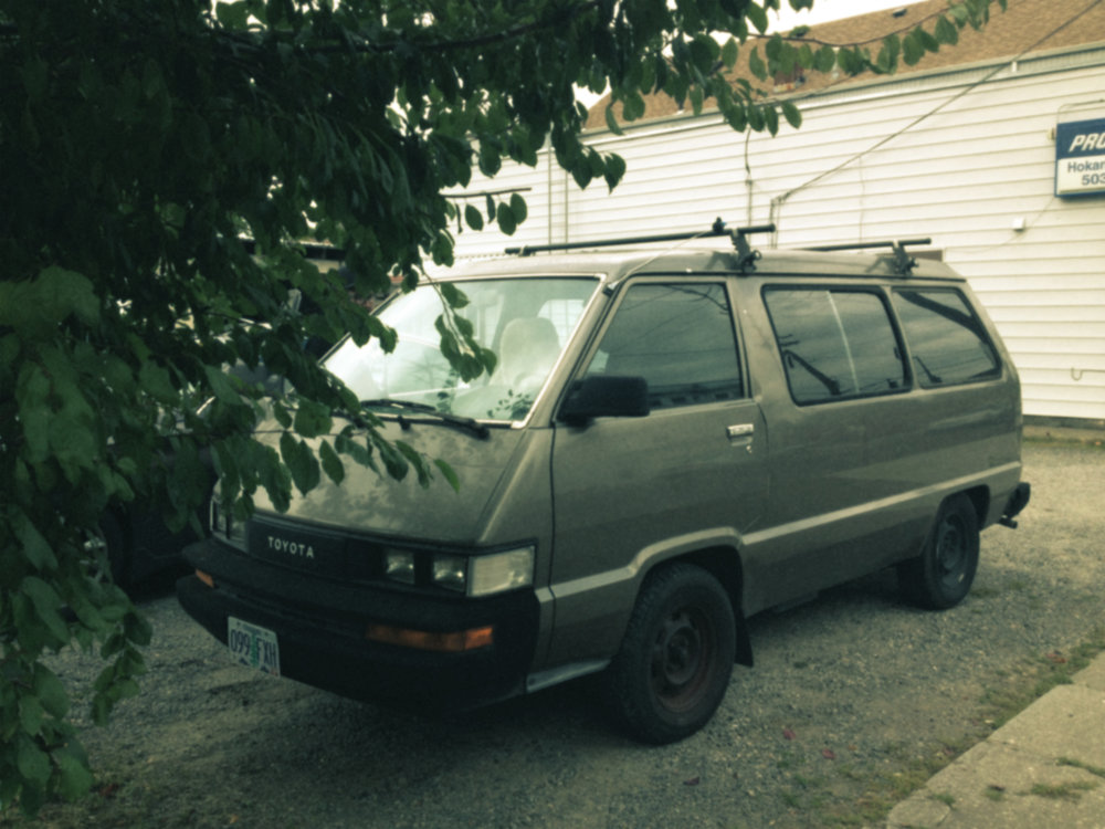 On the way home, after touring in my pickup truck for probably way too long, the band bought a tour van. A 1986 Toyota named VAN.