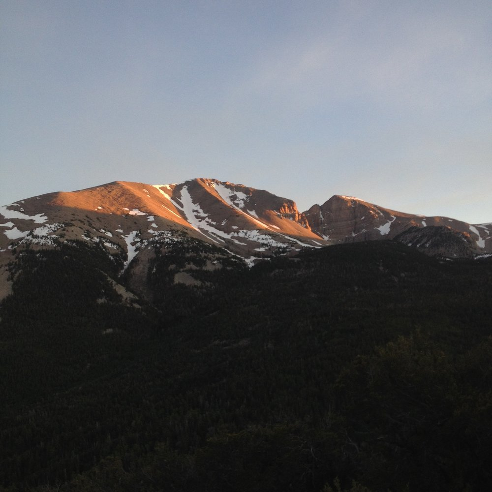 Jefferson Davis Peak (Left) and Wheeler Peak (Right) in Great Basin National Park