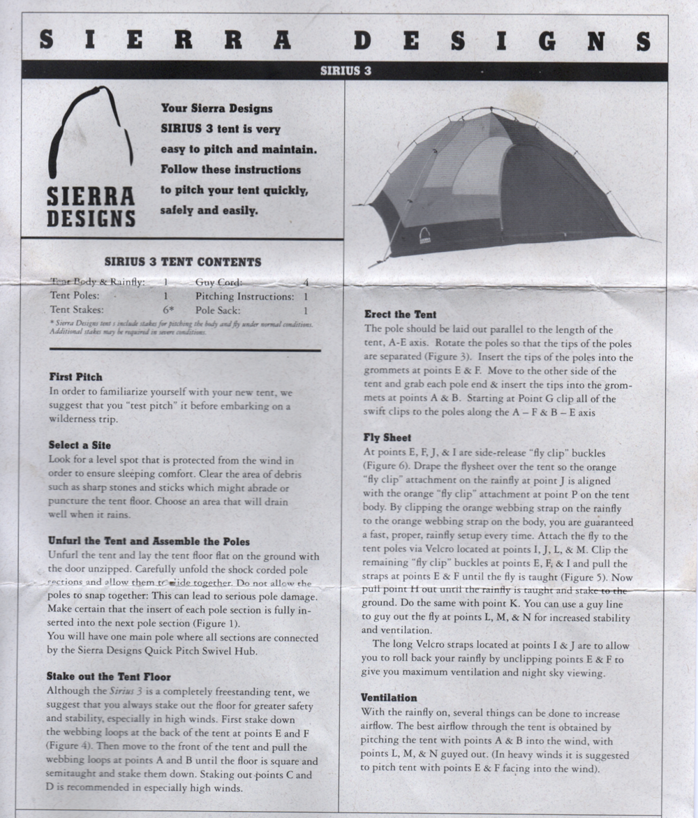 Sierra Designs Sirius 3 Tent User Manual.png