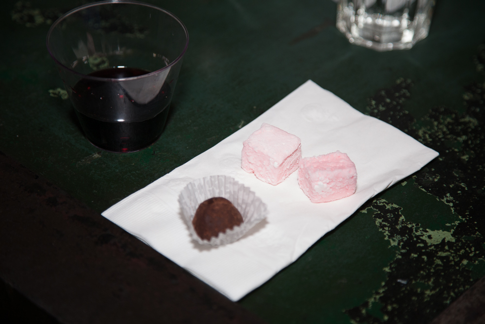 Rosewater marshmallows with rose chocolate truffles