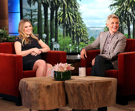Kristen Bell on the  The Ellen DeGeneres Show.