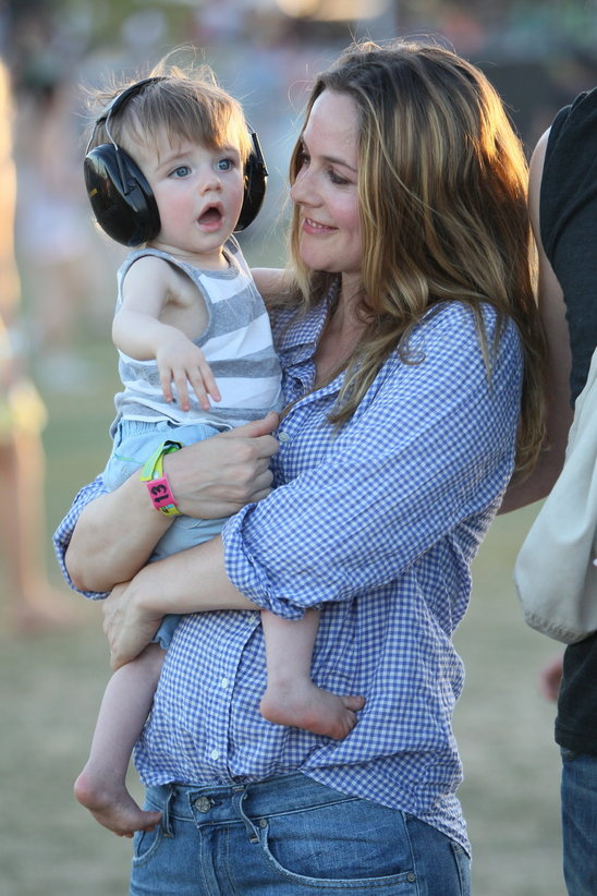 Alicia Silverstone's son's name is Bear Blu - we wonder what he will think of that when he's older.