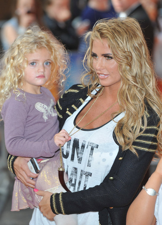 Katie Price's third child, her daughter, is named Princess Tiaamii Crystal Esther Andre - phew!