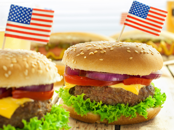 Image result for 4th of july burgers flag