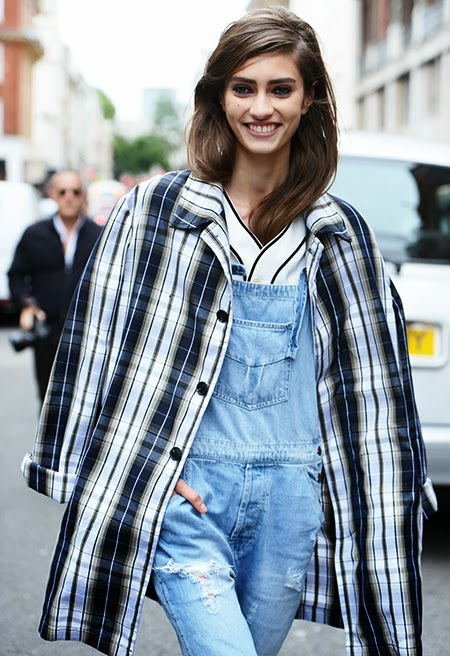 fashion plaid coat jacket navy blue white cococozy tommy ton street style dot com paris.jpg