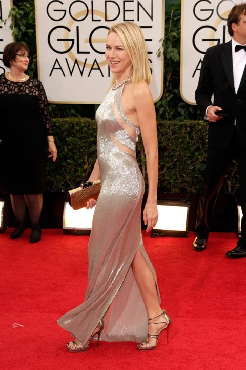 """Photo by: Getty Images    Best: Naomi Watts  """"I'm Sexy and I Know It."""" The presenter must have felt confident leaving the house in this silver Tom Ford gown."""