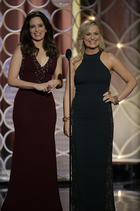 Photo by: Getty Images    Best: Tina Fey and Amy Poehler  Their red carpet outfits were underwhelming, but on stage the Golden Globes hosts nailed their jokes and their wardrobe changes. Brava, ladies!