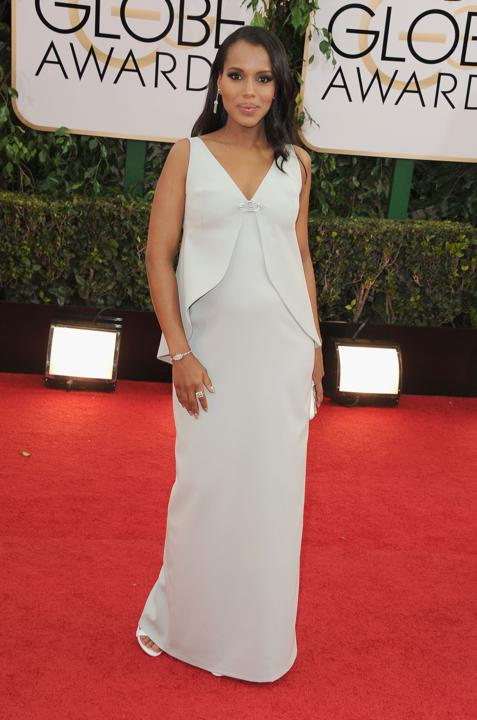 """Photo by: Getty Images    Best: Kerry Washington  No """"Scandal"""" here! This vintage Balenciaga is maternity-chic done right."""