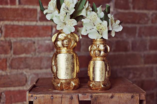 Gold Honey Bear Vase DIY: