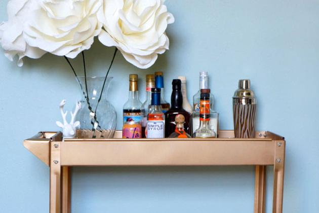 The Bronzed Bar Cart of Your Dreams