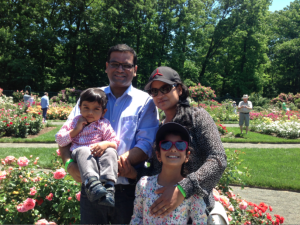 Sid Mathur, VP of Mattel subsidiary HIT, and his family