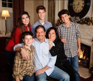 Mark Weinberger, CEO of E&Y, with his family