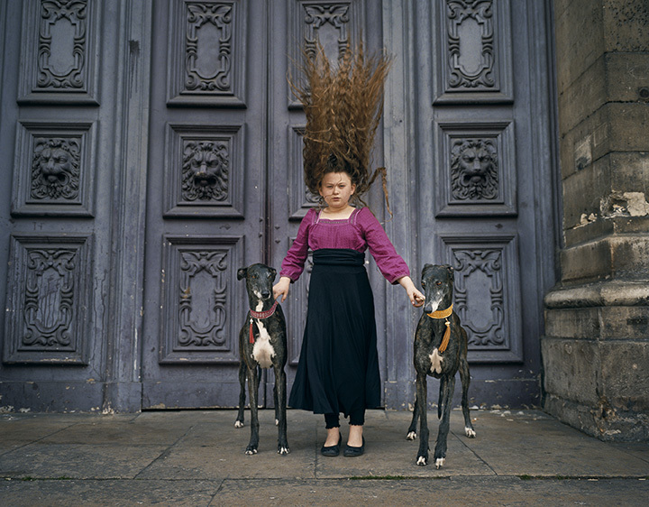 Robin Schwartz, Paris Greyhound Hair, Belle de Nuit, and Pioute Van Guard Mattenet, 2010, from Amelia and the Animals (Aperture, 2014)