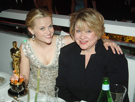 Reese Witherspoon and mom Betty, pictured after the actress's 2005 Oscar win.  Photo Credit: Jeff Kravitz/FilmMagic