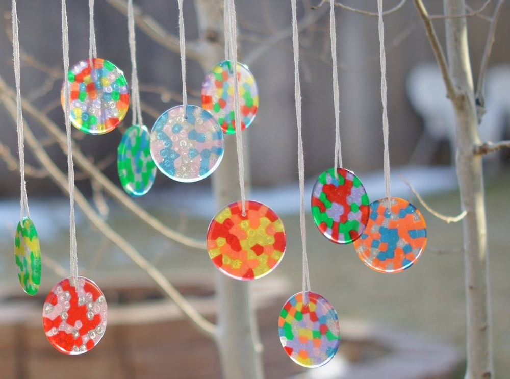 Craft diy bead suncatchers every little thing birth and for Suncatcher craft for kids