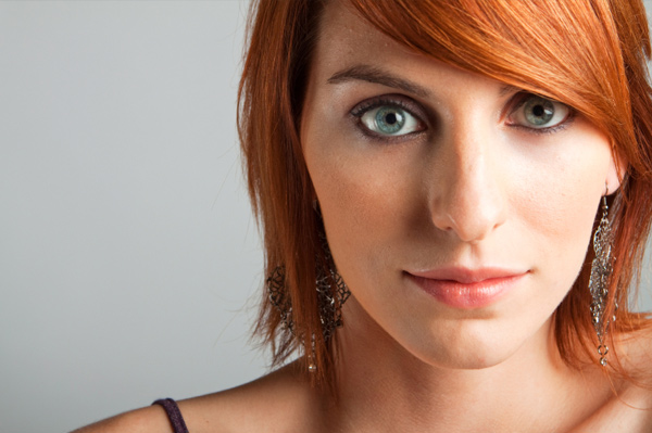 Aside! redhead with brown eyes makeup