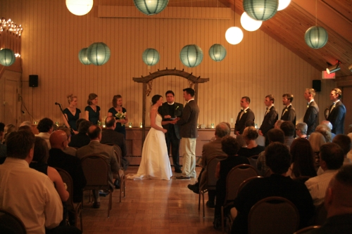 Becky Thomas was wonderful! Though it (the ceremony) got moved inside, due to rain, the intimate ceremony worked out very well. Becky did a wonderful job moving everything inside last minute. The guests were full of compliments!!- Dale & Sarah Minnesota - Planned by Becky