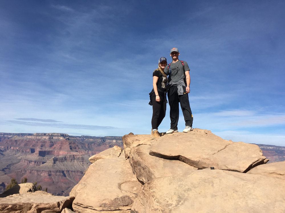 Kari and her hubby on an adventure in AZ!