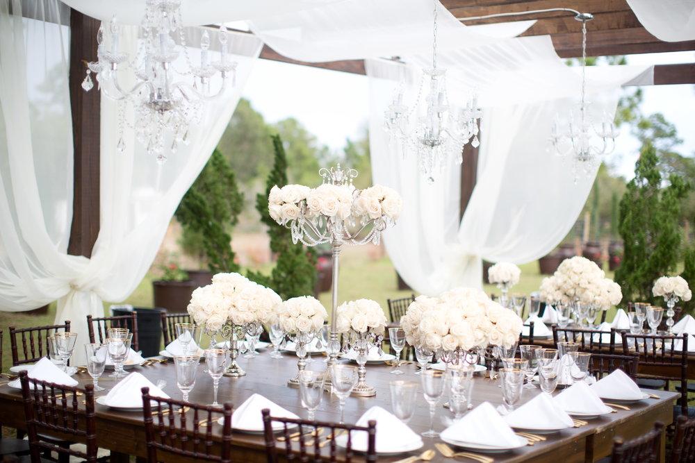 florida-wedding-backyard-ceremony-la-casa-toscana-fort-myers-florida-black-tie-bowtie-wedding-dress-white-roses-outdoor-wedding-photo-veranda-white-linen-barn-tables-chandelier-crystals