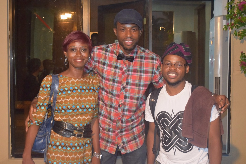 With designer, Muinat Atunnise and dancer, Qudus Onikeku