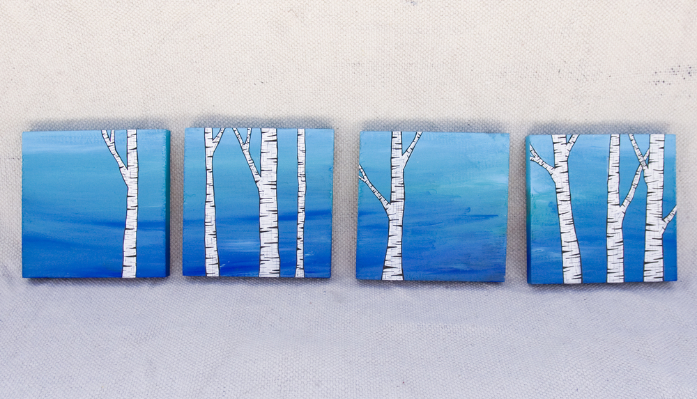 Birch Tree Wood Blocks