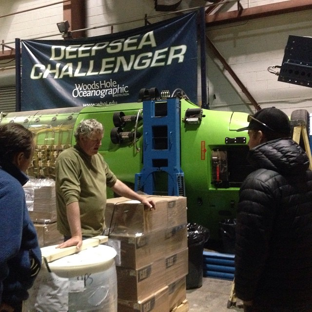 Unexpected tour involving an in depth look at James Cameron's Deepsea Challenger.