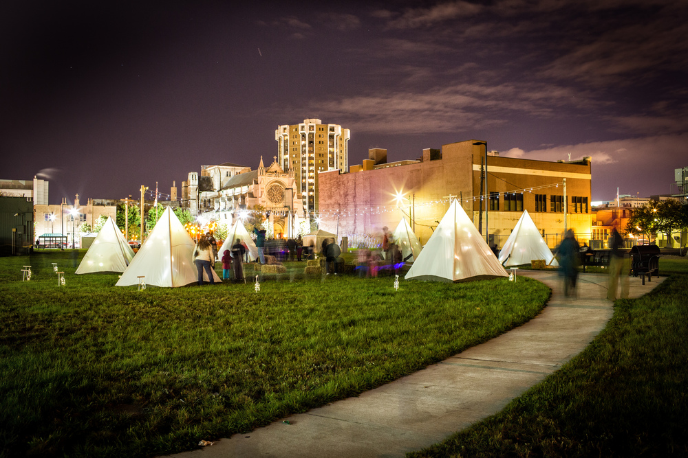 Dlectricity Frontier Town: A Tent Camp for Children in the Urban Wild