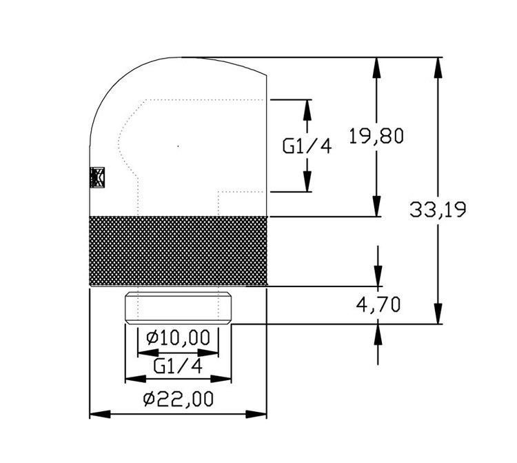 xspc g1  4 90 u00b0 rotary fitting