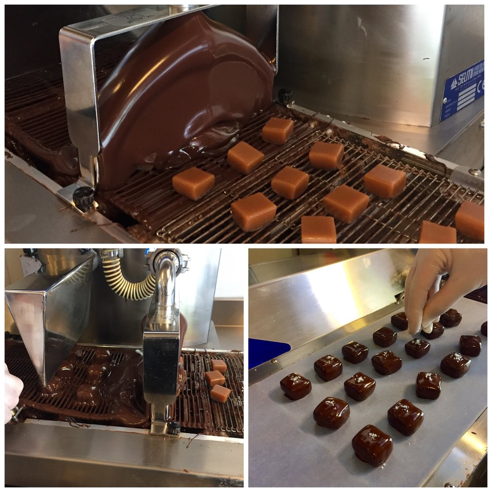 Making our salted caramels
