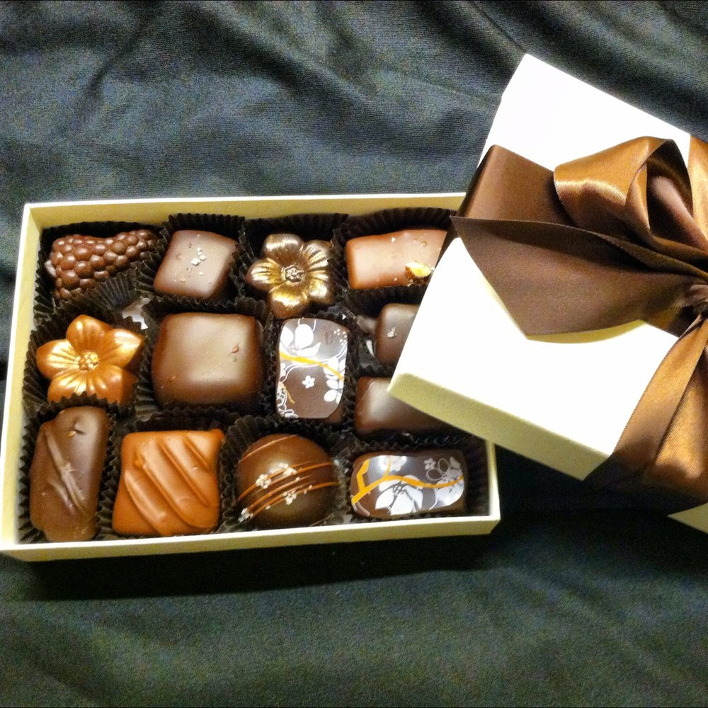 Our 1/2 pound Specialty box - truffles, caramels, and more...