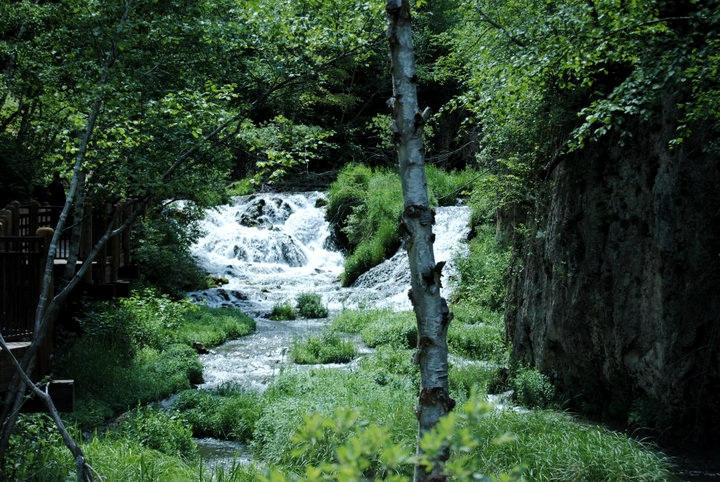 Roughlock Falls is one of Spearfish Canyon's most popular destinations. Located just 10 minutes from Wickiup, this is a great hike for all. The mile long trail starts behind the Lodge or you can drive up to the falls and park.  Photo By: Starla Pressley