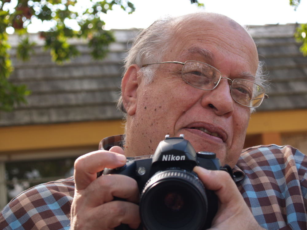 one of the last photos I took of my father; Christmas, with his new camera