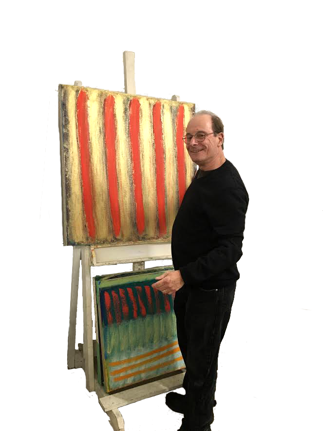 Steve Nedboy in his studio at Trestle art Space, 2016