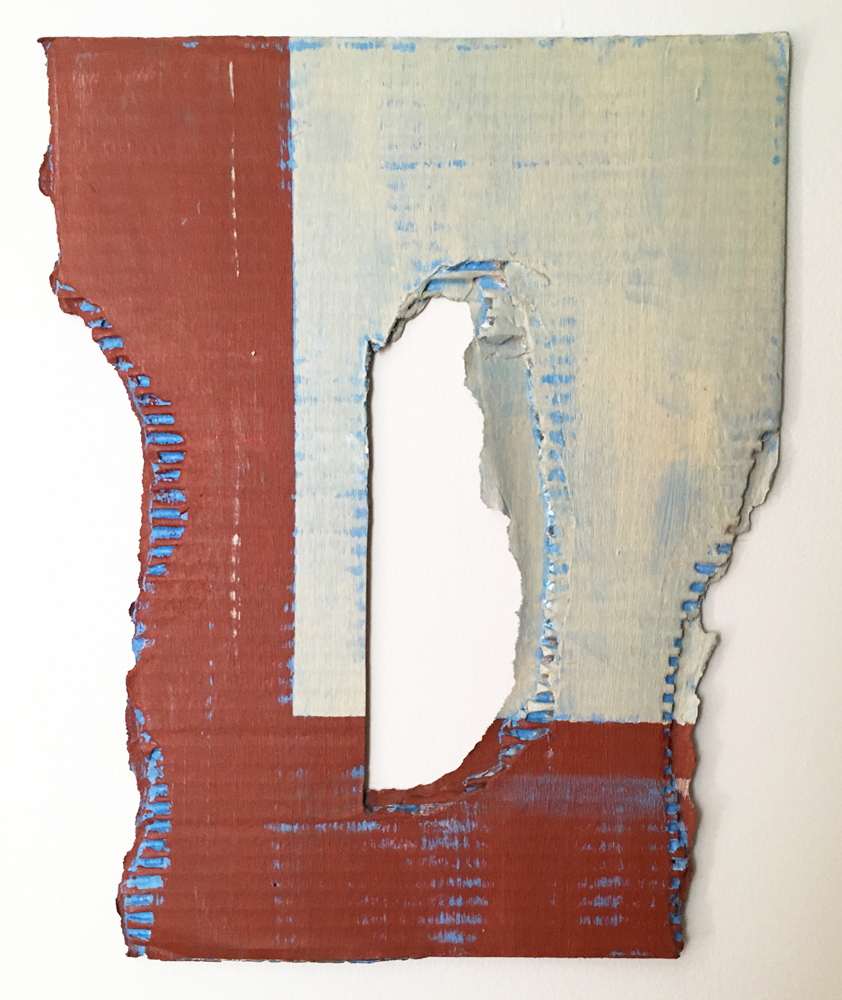 "Diane Englander, ""Buff and Rust on Blue"", 2017"