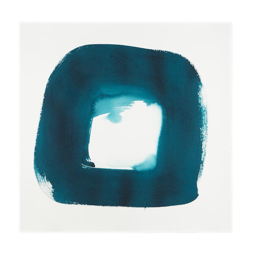 """Veronique Gambier, """"Aperture in turquoise II"""", 2012"""