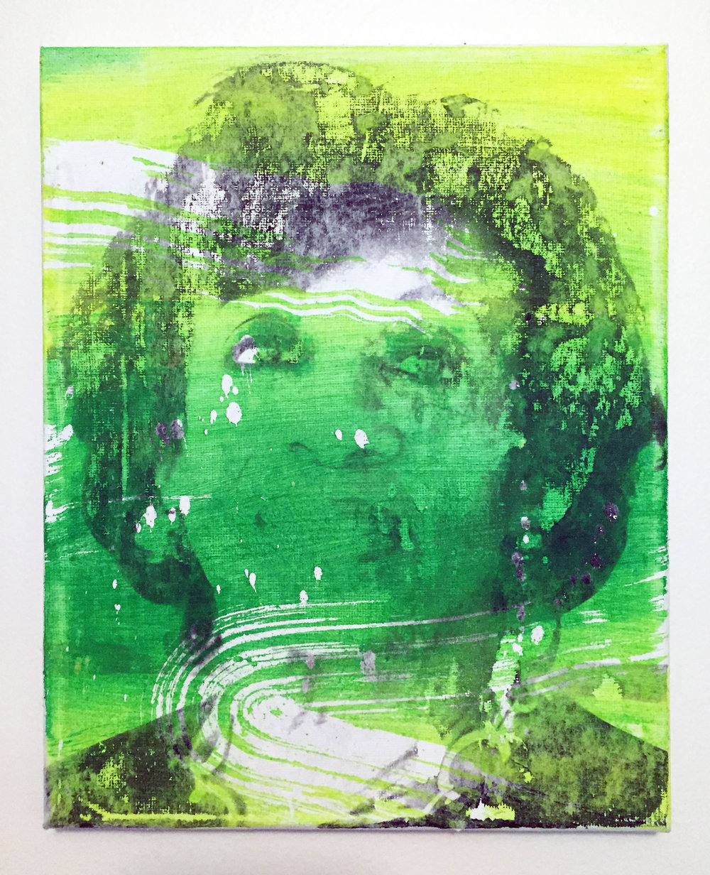 "Wendy White, ""Maxine (green)"", 2017"