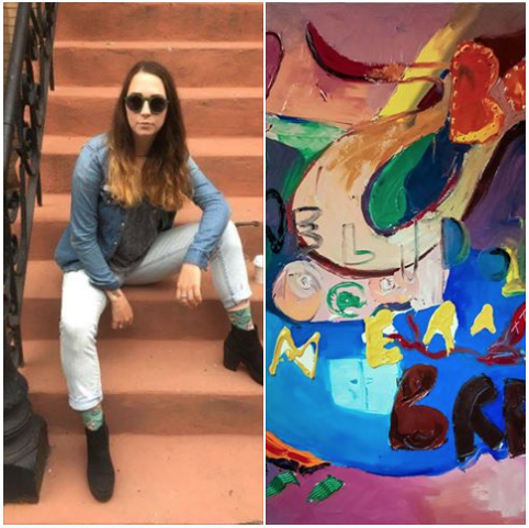 """#TrestleArtistResident Alumni Spotlight! Skye completed her residency with Trestle Gallery in 2016.  Skye Schirmer, is a Brooklyn based painter and printmaker. She currently works out of a shared studio in Bedstuy with artist and friend Andrea Santos. Schirmer has shown throughout Boston, the Bay Area, Brooklyn, and North Carolina. She holds a BFA in printmaking from  Massachusetts College of Art and Design and has worked in and with  Kala Art Institute in Berkeley California; Brooklyn Art Space & Trestle in Brooklyn New York. Schirmer holds a BFA in printmaking from Massachusetts College of Art and Design in Boston. She has also been a member of Brooklyn Art Space, the San Francisco Women's Artists and the California Society of Printmakers.  Skye completed her residency with  Trestle Gallery last December 2016 and has proceeded to do both group and solo shows, and helps manage a studio in Bedstuy, as of now, Skye is at  chaNorth doing another residency in Pine Plains NY.  When asked what his/her favorite thing about  #TAR Skye says, it is """"Self-motivation and meeting equally as motivated artists friends and professionals."""""""